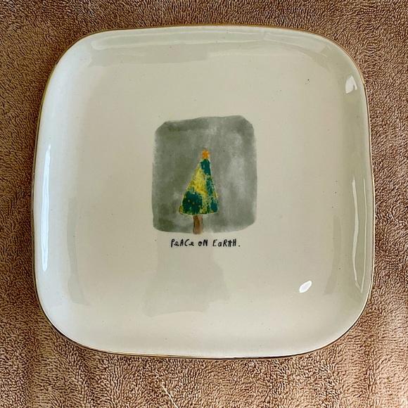 Rae Dunn Christmas Plate